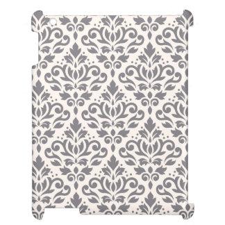 Damastast stora mönstergrå färg för rulla på kräm iPad skydd