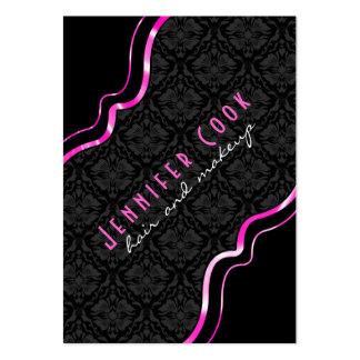 Damaster 2 för svart & rosa vintage för elegant bl visitkort mallar