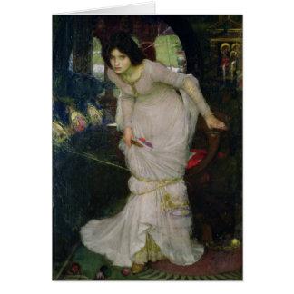 Damen av schalottenlöken vid den John waterhousen Hälsningskort