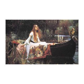 Damen av Shalott vid den John William waterhousen Canvastryck