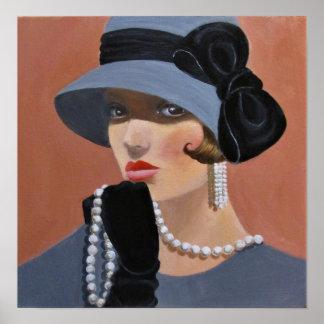 Damen i Graay Poster