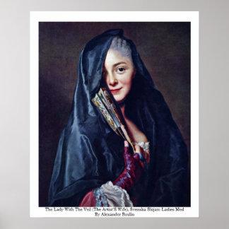Damen med skyla (konstnärernas fru) poster