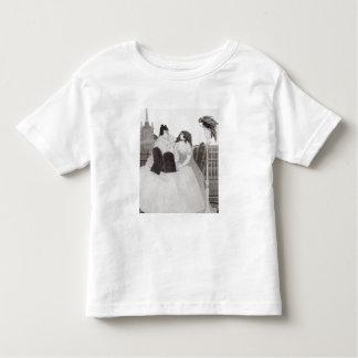 Damen på dressingbord (bläck och tvättar), tshirts