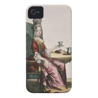 Damen som tar kaffe, mode pläterar, c.1695 (engrav Case-Mate iPhone 4 skal