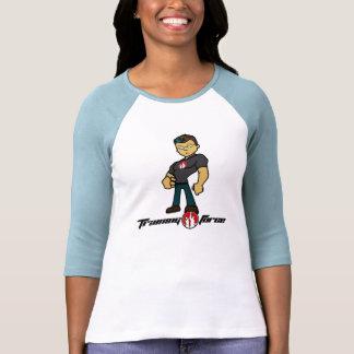 Damer 3/4 sleevebaseballskjorta t shirts