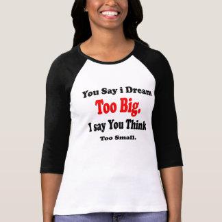 Damer 3/4 stora sleeveRaglanskjorta-dröm T Shirts