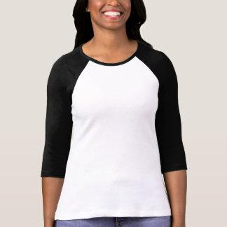Damer 3/4 svart för vit för sleeveRaglan bästa inp Tee