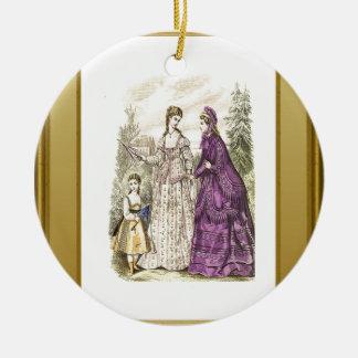 Damer av mode julgransprydnad keramik