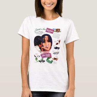 Damer för den vintageParis annonseringen, flickor T Shirt