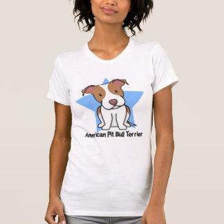Damer för Terrier för tjur för grop för Kawaii Tee Shirt