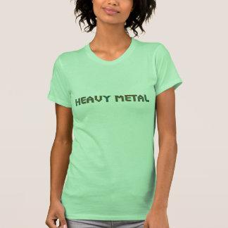 Damer görar grön heavy metalskjortan tshirts