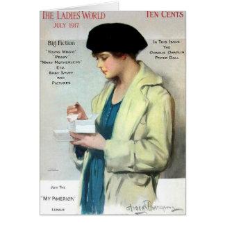 Damer värld, Juli 1917 Hälsningskort