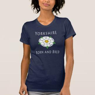 Damer Yorkshire född och född upp mörk Tshirts