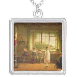 Dame'sens Skola, s.and D. 1899 Silverpläterat Halsband