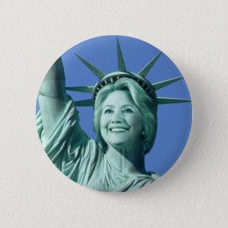 Damfrihet Hillary Clinton knäppas Standard Knapp Rund 5.7 Cm