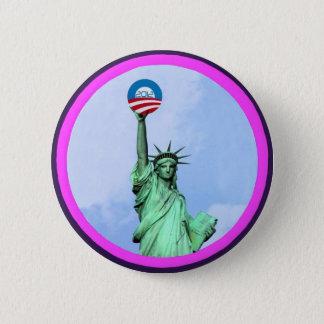 Damfrihet Obama 2012 Standard Knapp Rund 5.7 Cm
