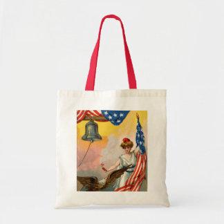 Damfrihet och amerikanska flaggan tygkasse