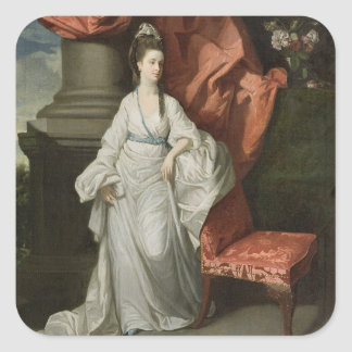 Damlån, fru av lån för herr James, Bt., 1770-80 Fyrkantigt Klistermärke