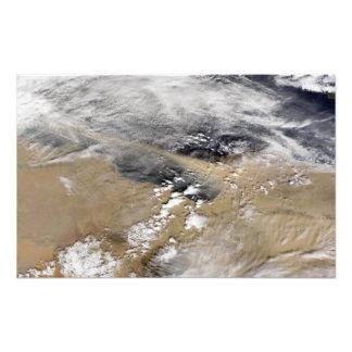 Damma av slag av kusten av Libyen Fototryck