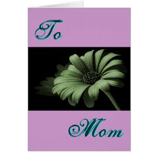 Dammig grön daisy för lycklig mors dag mig