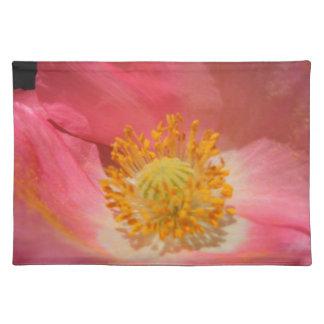 Dammiga rosor färgad vallmo bordstablett