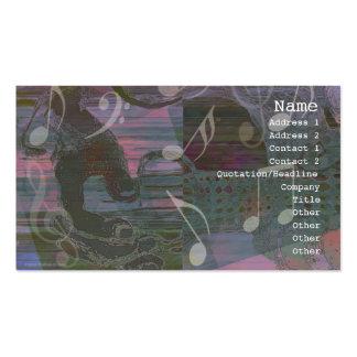 Dämpad gitarrhänderabstrakt profilerar kortet set av standard visitkort