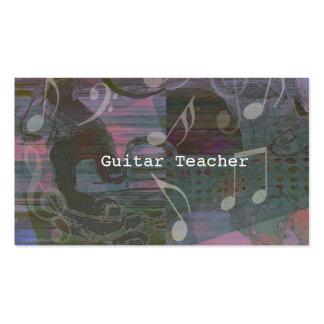 Dämpad gitarrhänderabstrakt profilerar kortet visitkort mallar