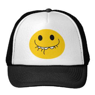 Dämpat skratta gul smiley face kepsar