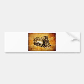 Dampflok rörlig vintage F036 Bildekaler