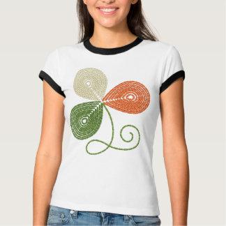 DamT-tröja med den broderade shamrocken Tröjor