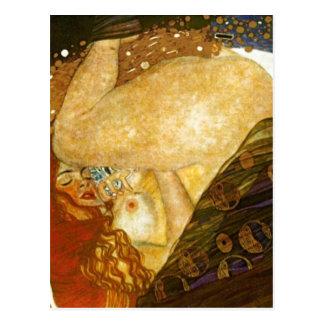 Dana? Gustav Klimt som målas 1907. Källa: Annat v Vykort
