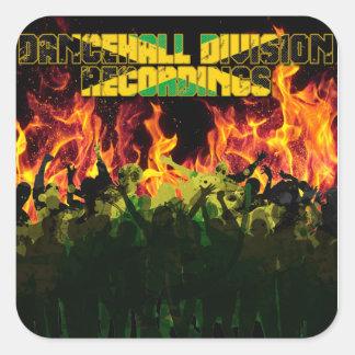 Dancehall uppdelningsinspelningar fyrkantigt klistermärke