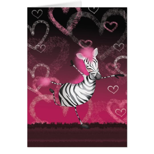 Dancing Zebra Hälsningskort
