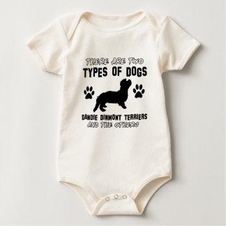 Dandie Dinmont Terrierhund design Krypdräkt