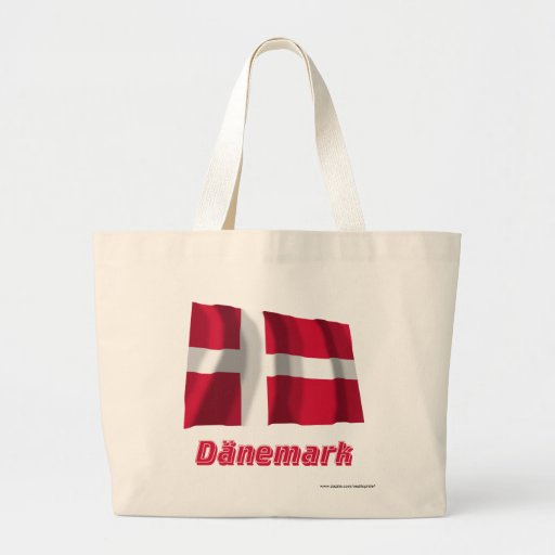 Dänemark Fliegende Flagge mit Namen Kasse
