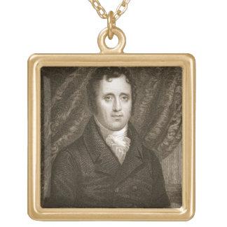Daniel D. Tompkins (1774-1825) som inristas av Tho Guldpläterat Halsband