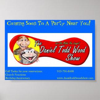 Daniel Todd Wood Showaffisch Poster