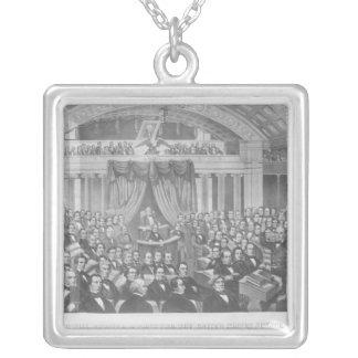 Daniel Webster som tilltalar Förenta staterna Silverpläterat Halsband