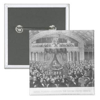 Daniel Webster som tilltalar Förenta staterna Standard Kanpp Fyrkantig 5.1 Cm