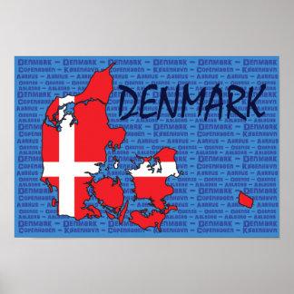 Danmark affisch poster