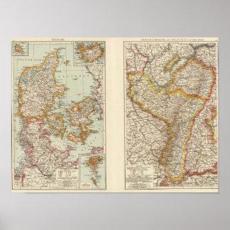 Danmark Alsace Lorraine, Palatinate Poster