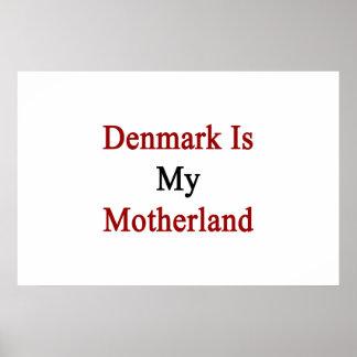 Danmark är min fädernesland poster