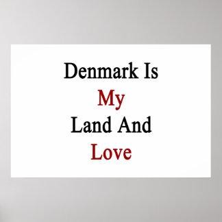 Danmark är min land och kärlek poster
