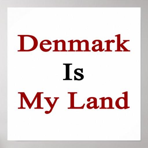 Danmark är mitt land print