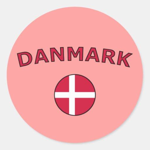 Danmark Runda Klistermärken