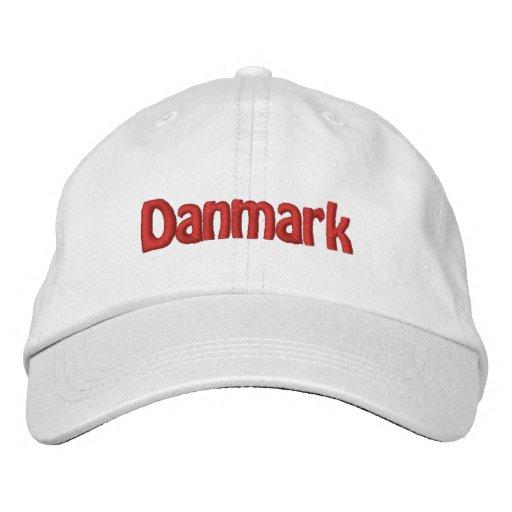 Danmark Broderad Baseball Keps