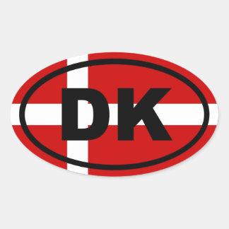 Danmark - DK - europé Ovalt Klistermärke