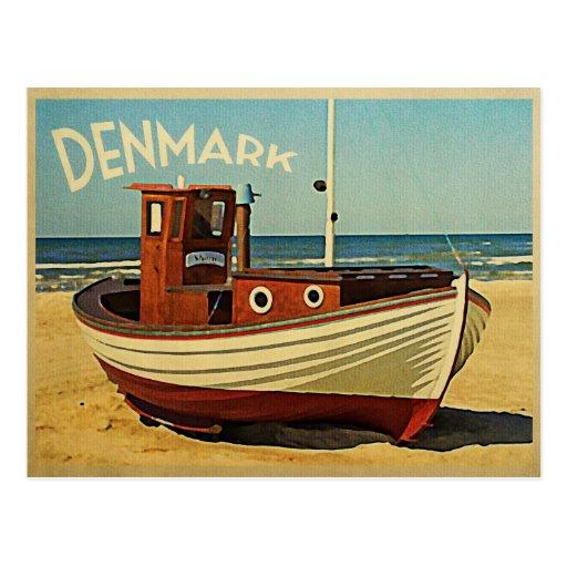 Danmark fiskebåt vykort