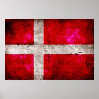 Danmark flagga posters