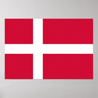 Danmark flagga print